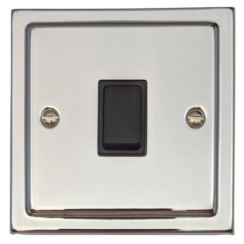G&H TC1B Trimline Plate Polished Chrome 1 Gang 1 or 2 Way Rocker Light Switch